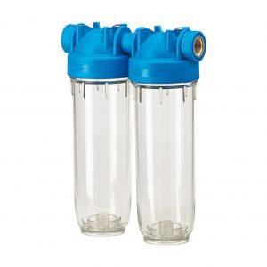 Carcasa de filtro en 2 etapas para agua potable