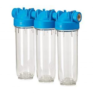 Carcasa de filtro en tres etapas para agua potable